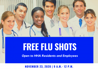 Flu shots available to HHA Employees and Senior Residents